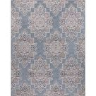 StyleWell Lara Blue 8 ft. x 10 ft. Geometric Indoor/Outdoor Area Rug-28017 - The Home Depot