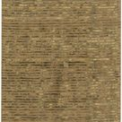 Alsager Solid and Border Light Gray/Moss/Taupe Area Rug - 2'6 x 8'