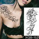 Waterproof Temporary Tattoo Sticker I Love You Flash Tattoos Lip Print Butterfly Flowers Body Art Arm Fake Sleeve Tatoo Women - 01-XQB152