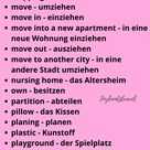 German and English | Living and household