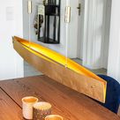 LED Hängeleuchte Malu Gold Lampenwelt höhenverstellbar Made In Germany Dimmbar