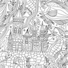 Ocean Kingdom - Printable Adult Coloring Page from Favoreads (Coloring book pages for adults and kids, Coloring sheets, Coloring designs)