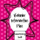 Classroom Behavior Plans