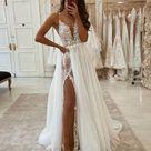 Sexy Brautkleider A linie | Wunderschöne Hochzeitskleid Mit Spitze