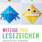 Lesezeichen basteln: Monster Lesezeichen falten mit Kindern