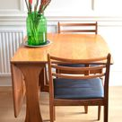 Midcentury G Plan Drop Leaf Teak Table and 4 Chairs. Delivery. Vintage / Modern / Danish Style.