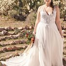 Style 6515 Chiffon A line Gown with Racerback and High Slit   Lillian West