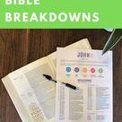 Bible Breakdowns [PRINTABLE]