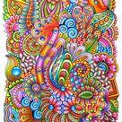 Wild Colourful  Zentangle Art