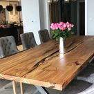 Large English Oak Dining Table by Earthy Timber UK