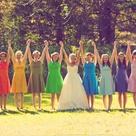 Bright Bridesmaid Dresses