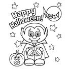 Leuk voor kids | Happy Halloween vampiertje