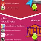 Barcelona Android apps: Travel Guides, Maps, Transportation, Biking, Museums, Parking, Sport and apps for Students.