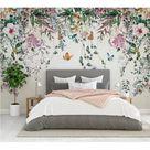 Watercolor Landscape City Textile Wallpaper