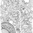 Heart + Circulatory System Coloring Page