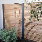 Sichtschutz Terrasse Garten Holz Metall Lärche Secret 4