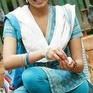 Deepa sannidhi in blue salwar kameez