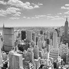 Black & White New York Panorama Wallpaper Mural