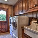 Rustic Laundry Rooms