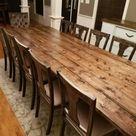 Long Farmhouse Table Large Farm Table Rustic Table Custom   Etsy
