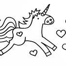Kleurplaten eenhoorns unicorns