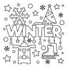 Winter Coloring Page • FREE Printable eBook