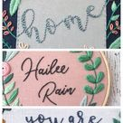 How to Embroider Letters by Hand - Cutesy Crafts