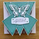 Fancy Fold card for Butterfly Bouquet Blog Hop