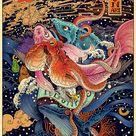 Vivid Illustrations Depict Dynamic Scenes of Nature and East Asian Mythology