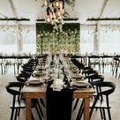 Cozy Meets Classic in This Black and White Estate at Cherokee Dock Wedding | Junebug Weddings