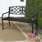 Steel Patio Garden Bench