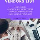 Start a Business: Vendors List 2021