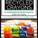 Recycling Crayons- How to Make Crayons - The Kitchen Table Classroom