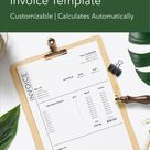 Excel Invoice - Clean & Modern Design - Business Freelance Photography Design Shop Invoice Template