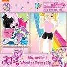 Toys JoJo Siwa - 26 Piece Magnetic Wood Dress Up