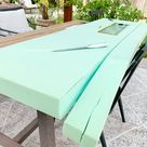 Easy DIY bench cushion with removable cover - Hydrangea Treehouse