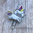 Unicorn Feltie Planner Paperclip Bookmark, Unicorn lover gift, Cute Planner Bookmark, Planner access