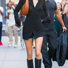 Kendall Jenner proves that retro is in style with tall boots inspired in the sixties