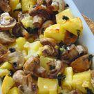 Patatas y champiñones al horno y al ajillo   Receta de Tasty details
