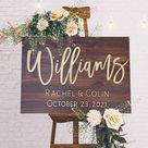 Wedding Signage, Last Name Sign, Sign for wedding, Wedding Welcome Sign, Welcome Wedding Sign Wood, Wedding Sign Entrance