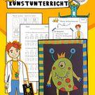 Kunst Grundschule, fertige Kunststunde Monster – Unterrichtsmaterial im Fach Kunst