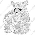 Coloring pages for adults. Digital coloring page. Panda Bear | Etsy