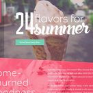 Elly's Ice Cream HTML Template by Mosaic Web Market on @creativemarket