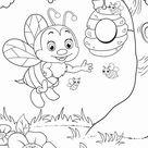 Tolle Malvorlage Biene   Bienen - Kostenlose Ausmalbilder