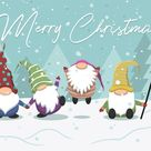 Nette Karikatur Gnomes Weihnachtsillustration