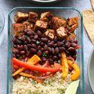 Sheet Pan Meal Prep Tofu Quinoa Burrito Bowls   Fit Foodie Finds
