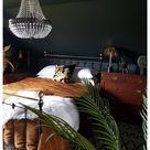 black boho bedroom
