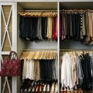 Organized Small Closets