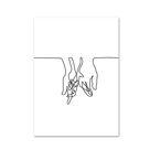 Minimalist Human Body Line Drawing - CPR4166-A / 50cm X 40cm Unframe
