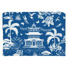 Chinoiserie Pagoda, Blue and White Throw Pillows - Cover only-no insert / Cotton Twill / 14x20 inch